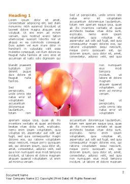 Balloons Word Template, First Inner Page, 03250, Holiday/Special Occasion — PoweredTemplate.com