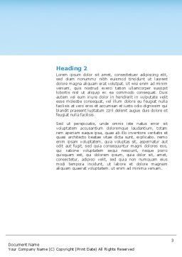 Trio Word Template, Second Inner Page, 03252, People — PoweredTemplate.com