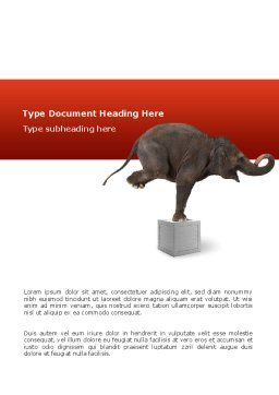 Elephant Word Template Cover Page