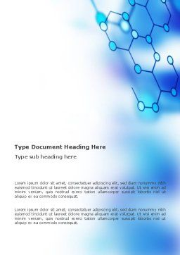 Molecular Bonds Word Template, Cover Page, 03256, Abstract/Textures — PoweredTemplate.com