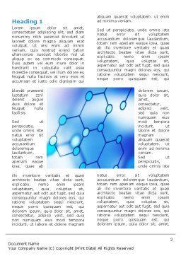 Molecular Bonds Word Template, First Inner Page, 03256, Abstract/Textures — PoweredTemplate.com