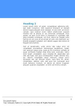 Molecular Bonds Word Template, Second Inner Page, 03256, Abstract/Textures — PoweredTemplate.com