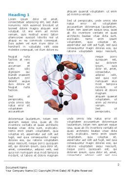 Molecule Model Of Hydrocarbon Word Template, First Inner Page, 03257, Technology, Science & Computers — PoweredTemplate.com