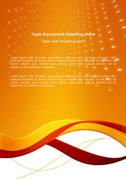 Orange Wave Surface Word Template, Cover Page, 03258, Abstract/Textures — PoweredTemplate.com