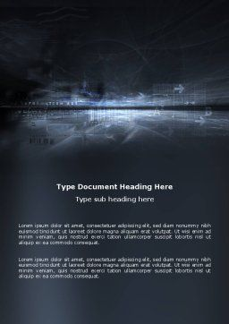 Cyberspace Word Template, Cover Page, 03260, Abstract/Textures — PoweredTemplate.com