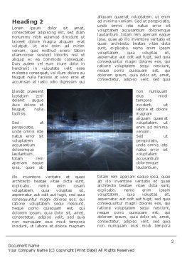 Cyberspace Word Template, First Inner Page, 03260, Abstract/Textures — PoweredTemplate.com