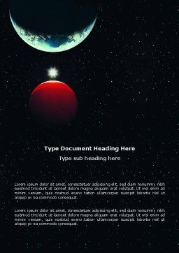 Red Planet Word Template, Cover Page, 03263, Education & Training — PoweredTemplate.com