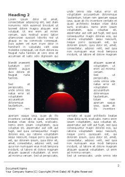Red Planet Word Template, First Inner Page, 03263, Education & Training — PoweredTemplate.com