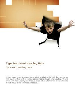 Children's Surprise Word Template, Cover Page, 03270, Business Concepts — PoweredTemplate.com