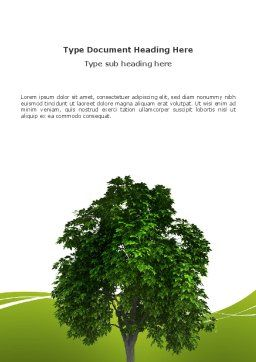 World Tree Word Template, Cover Page, 03271, Nature & Environment — PoweredTemplate.com