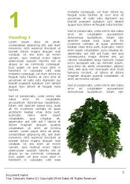 World Tree Word Template, First Inner Page, 03271, Nature & Environment — PoweredTemplate.com