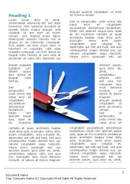 Pocket Knife Word Template, First Inner Page, 03272, Utilities/Industrial — PoweredTemplate.com