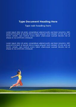 Happiness Word Template, Cover Page, 03273, Consulting — PoweredTemplate.com