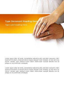 Hand In Hand In Wedding Rings Word Template, Cover Page, 03274, Holiday/Special Occasion — PoweredTemplate.com