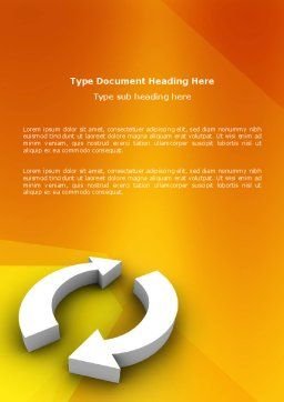 Refresh Word Template, Cover Page, 03278, 3D — PoweredTemplate.com