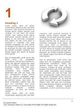 Refresh Word Template, First Inner Page, 03278, 3D — PoweredTemplate.com