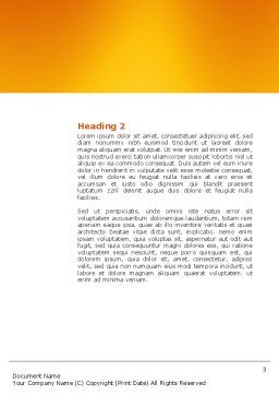 Refresh Word Template, Second Inner Page, 03278, 3D — PoweredTemplate.com