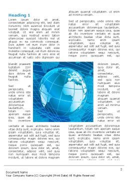 Worldwide Word Template, First Inner Page, 03279, Global — PoweredTemplate.com