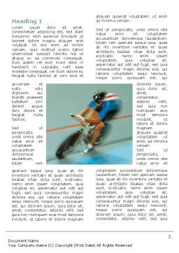 Racing On A Cycle Word Template, First Inner Page, 03280, Sports — PoweredTemplate.com