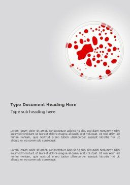 Lifeblood Word Template, Cover Page, 03281, Technology, Science & Computers — PoweredTemplate.com
