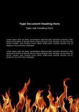 Fire Word Template, Cover Page, 03282, Abstract/Textures — PoweredTemplate.com