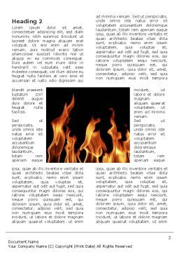 Fire Word Template, First Inner Page, 03282, Abstract/Textures — PoweredTemplate.com
