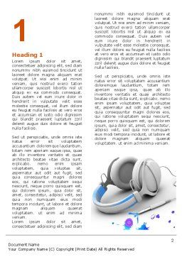Earphones Word Template, First Inner Page, 03283, Technology, Science & Computers — PoweredTemplate.com