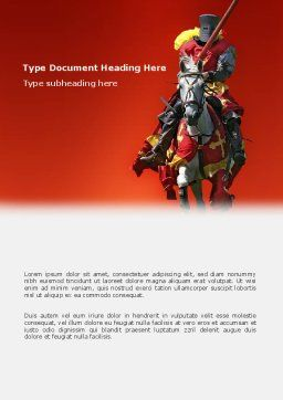 Knight Word Template, Cover Page, 03285, Education & Training — PoweredTemplate.com