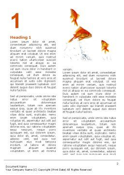 Jumping Goldfish Word Template, First Inner Page, 03286, Agriculture and Animals — PoweredTemplate.com