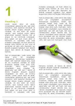 Biofuel Word Template First Inner Page