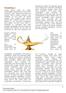 Genie Lamp Word Template, First Inner Page, 03289, Abstract/Textures — PoweredTemplate.com