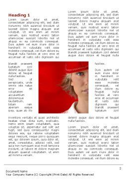Lady in Red Word Template, First Inner Page, 03292, People — PoweredTemplate.com