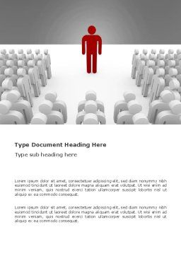 Majority Leader Word Template, Cover Page, 03293, 3D — PoweredTemplate.com