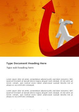 Career Jump Word Template, Cover Page, 03296, Careers/Industry — PoweredTemplate.com