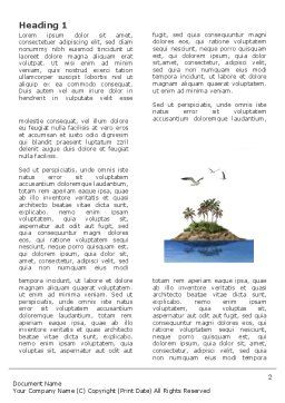 Tropic Island Word Template, First Inner Page, 03297, Nature & Environment — PoweredTemplate.com