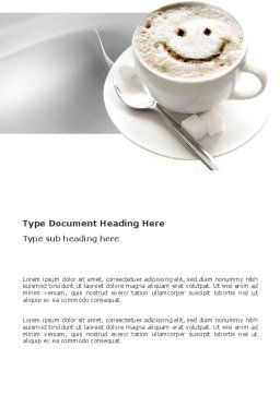 Cappuccino Cup Word Template, Cover Page, 03298, Food & Beverage — PoweredTemplate.com