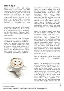 Cappuccino Cup Word Template First Inner Page