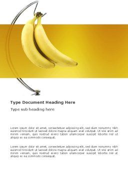 Bananas Word Template, Cover Page, 03299, Food & Beverage — PoweredTemplate.com