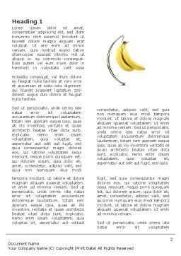Bananas Word Template, First Inner Page, 03299, Food & Beverage — PoweredTemplate.com