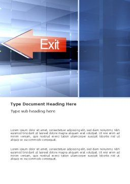 Way To Exit Word Template, Cover Page, 03300, Consulting — PoweredTemplate.com