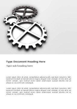 Gear Drive Word Template, Cover Page, 03301, Utilities/Industrial — PoweredTemplate.com