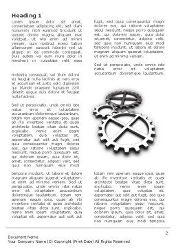 Gear Drive Word Template, First Inner Page, 03301, Utilities/Industrial — PoweredTemplate.com