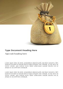 Bag Of Wealth Word Template, Cover Page, 03303, Financial/Accounting — PoweredTemplate.com