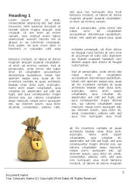 Bag Of Wealth Word Template, First Inner Page, 03303, Financial/Accounting — PoweredTemplate.com