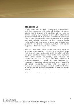 Bag Of Wealth Word Template, Second Inner Page, 03303, Financial/Accounting — PoweredTemplate.com