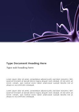 Neuron Word Template, Cover Page, 03304, Abstract/Textures — PoweredTemplate.com
