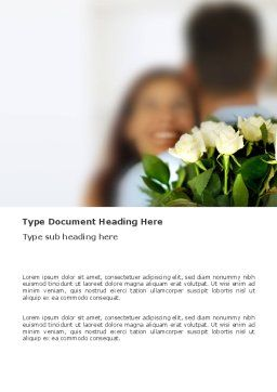 Loving Couple Word Template, Cover Page, 03305, Holiday/Special Occasion — PoweredTemplate.com