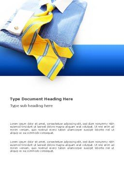 Business Style Shirt And Tie Word Template, Cover Page, 03306, Careers/Industry — PoweredTemplate.com