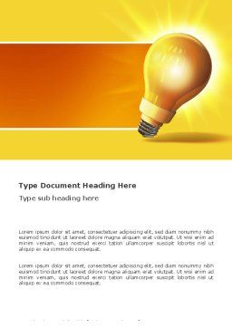 Bright Idea Word Template Cover Page