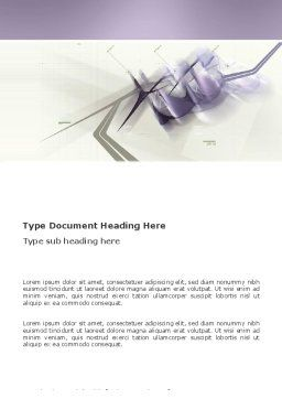Light Purple Word Template, Cover Page, 03309, Abstract/Textures — PoweredTemplate.com